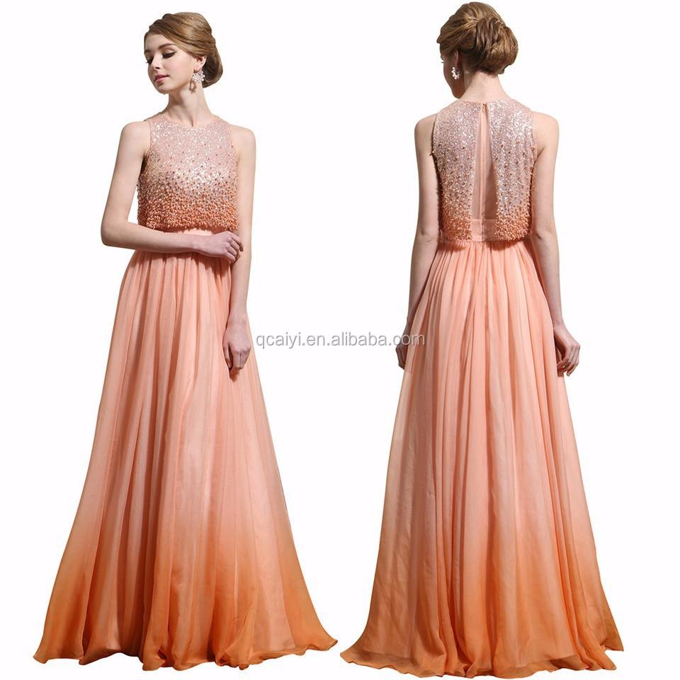 اللون البرتقالي siduo الجملة فساتين السهرة فستان حفلة موسيقية الكلمة طول الفساتين الطرف