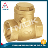 single door check valve NPT threaded connection eith blasting cw 617n material with electric valve control