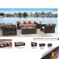 Cheap outdoor wicker furniture rattan sectional beds sofa