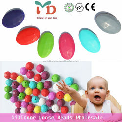 Silicone Teething Beads For Jewelry/FDA Baby Chew Beads BPA Free Food Grade Silicone Teething Beads