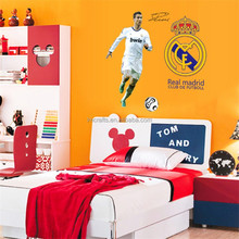 World Cup 2014 Football Poster Real Madrid Ronaldo Play Football Wall Sticker For Bedroom Wall Decorative Football Decals DF9906