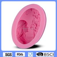 DIY cake baking tools silicone fondant mold girl modeling handmade soap mold CD-F412