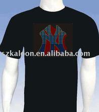 super cool music activated EL T-shirt