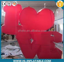 Party decoration giant inflatable LOVE letter Valentine inflatable with different colors