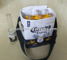 Insulated pvc water proof cool bag 6 bottle beer promotion bag