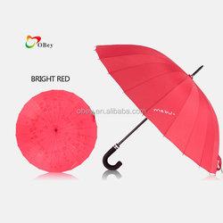 24 Rib Large Umbrella with Crook Soft EVA Handle