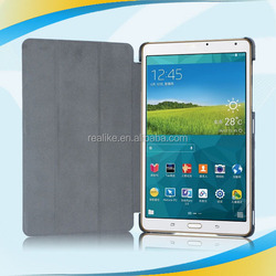 """Factory price! Ultra-thin Wake PU Leather Cover Case For Samsung Galaxy Tab S T700 T705 8.4"""""""