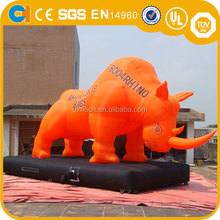 Giant inflatable bull inflatable cow cartoon character for advertsing , inflatable advertising statues