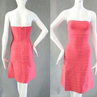 A line dress sexy girl pink formal dinner dress for women