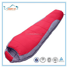 2015 promotional hot sale hiking mummy sleeping bag for travellers