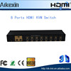8 Port HDMI USB2.0 Manual KVM Switch Box PC Monitor Console for Computer Keyboard Mouse