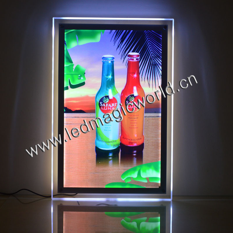 2016 Edge Light Acrylic LED Advertising Light Box/LED Poster Frame/LED picture frame