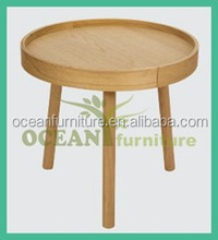 2014 new style round shape nest wooden coffee table ikea