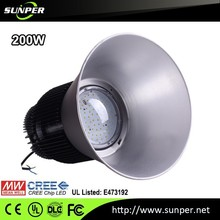 Pure White Color Temperature(CCT) and CE,LVD,RoHS,SAA,UL,VDE Certification 200w led high bay light