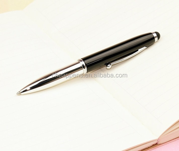 3 in 1 functional led light touch metal writing ball pen 2.jpg