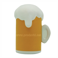 PU Beer mug promotional anti stress reliever foam ball