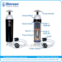 D-2013 hot- sale Diercon portable water filter purifier camping survival soldier 0.1 micron ceramic pocketable water filter