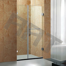 High quality open hinge shower glass screen