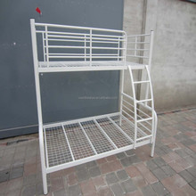 White metal bunk bed for kids