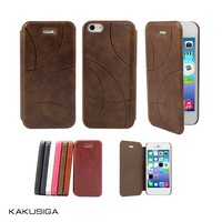 H&H professional embossing pattern flip leather 5 inch mobile phone case