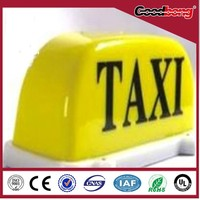 Taxi top advertising acrylic light box/laser cutting car roof illuminated light box
