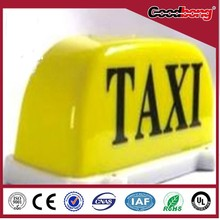 Taxi top advertising acrylic light box/laser cutting car roof illuminated light box