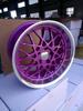 Aftermarket adapt rotiform big lip 18 inch purple spoke alloy wheels