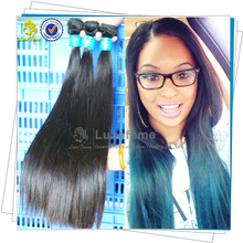 Hot-lasting popular good quality grade 6A natural relaxed remy silky straight hair