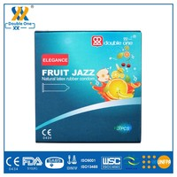 Natural Latex OEM Fruit Jazz Smooth Condom