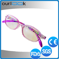 2015 Latest Products Purple TR90 Bright Color Glasses Frames For Kids