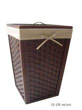 Solid wooden laundry basket, bathroom storage organizer wooden storage box