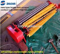 conveyor roller rotary brush belt scraper
