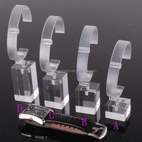 Transparent Plastic Clear Acrylic Bracelet Wrist Watch Display Holder Rack Store retail shop showcase
