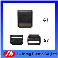 Black nylon plastic tie down lock straps belt cam buckle