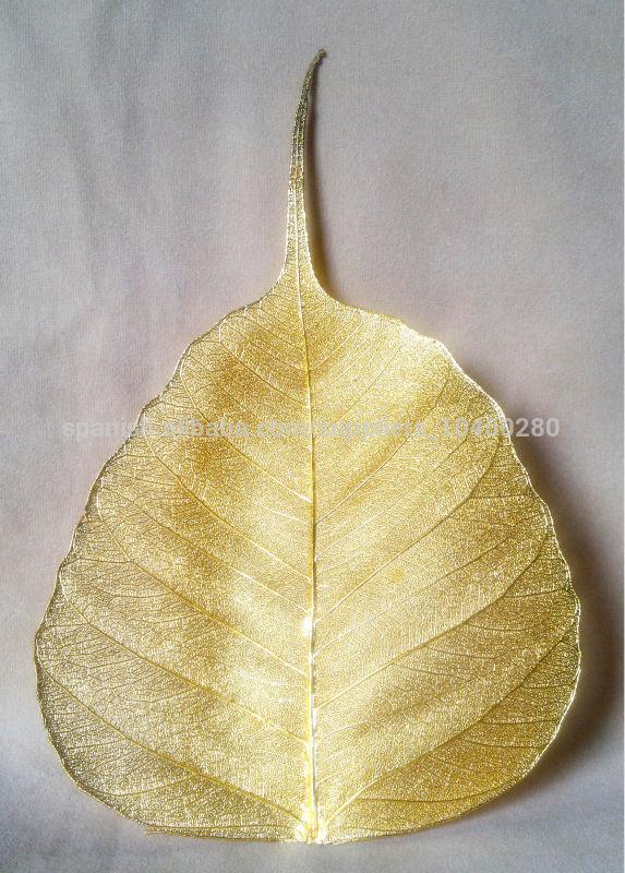 Plateado y plata chapado en oro Hoja Natural del Árbol