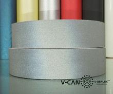 Silver Reflective Fabric Tape for Safety Garment, 5 cm Width Retro Reflective Tape for Bag , RF-HW506030