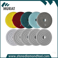 "4""/5""/6"" wet and dry 5 step diamond polishing pads for sale"