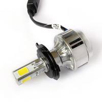 high power new all in one A336 H4 Hi/Lo car led headlight lamp cob 3300lm 6000K led headlight
