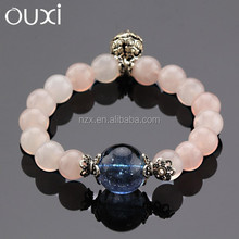 OUXI New arrival women's fashion wholesale beaded women natural stone silver jewelry