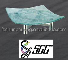 Stainless Steel Buffet Shelf / Hot Sale Buffet Stand With Glass plate