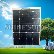 60W Semi flexible solar pv module with bypass diode