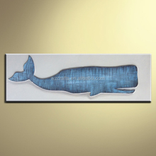 Modern 3D Relief Oil Painting of Dolphin for Kid's Room
