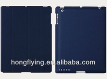 PU leather 3- folder folio case for ipad mini with stand function