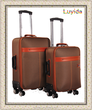 1680D nylon travel suitcase, soft lightweight internal trolley luggage factory 2014