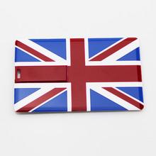 Bulk Cheap 2gb British flag shape usb flash drive,100% Genuine Capacity silicone card Pendrive, usb 2.0 drive with hole