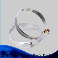 Factory supply ! SS201 stainless steel 9mm bandwidth 65-89mm German type canvas hose clamp