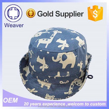 2015 New Hot Selling Products Free Pattern Children Cartoon Bucket Hat + String