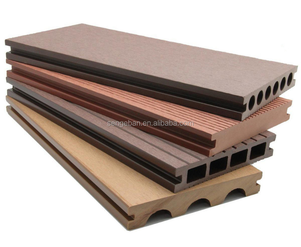 Outdoor hollow composite decking floor wpc decking for The range decking boards
