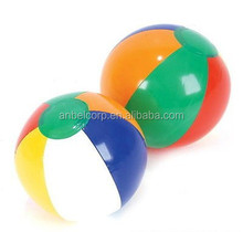 "LOT OF 12 MINI MULTICOLORED BEACH BALLS 6"" BEACHBALL BALL POOL PARTY"