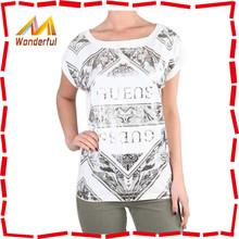 2015 wholesale women summer short sleeve plain blank women t shirt/custom crop top